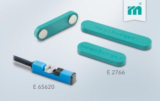 NEU bei Meusburger: Magnetfeldsensor und magnetischer Kabelhalter