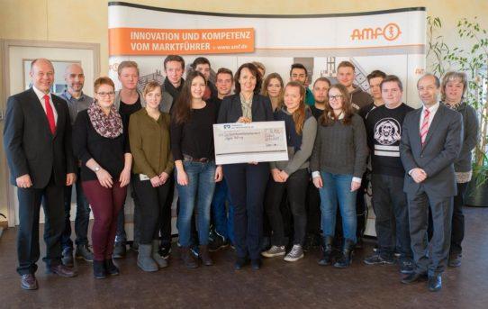 AMF-Azubis spenden 16.700 Euro für soziale Einrichtung