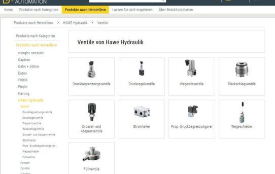 HAWE Hydraulik nutzt etablierte Online-Marktplätze für Produktvertrieb