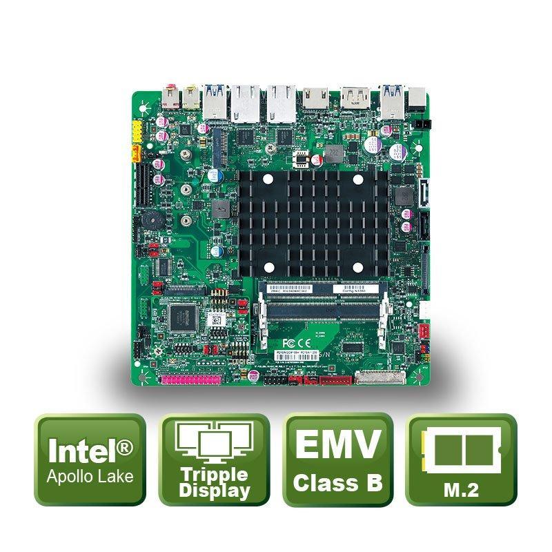 Thin-Mini ITX Board with Apollo Lake BGA Processors