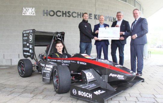 MAHA sponsort Studenten-Rennteam der Hochschule Kempten