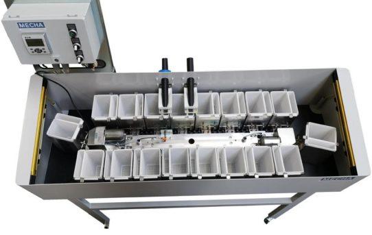 Teilespeicher mit SPC Funktion für Mehrspindel-Drehautomaten