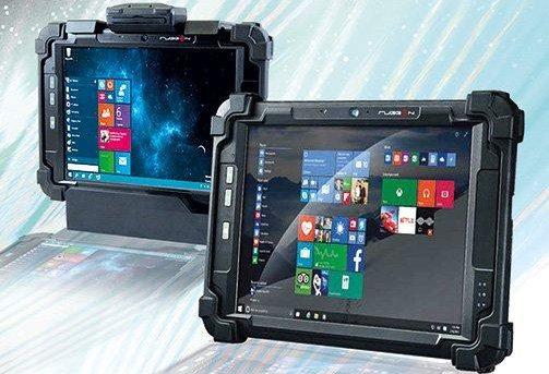 Tablet-PC mit übersichtlichem Display ist IP65 geschützt!