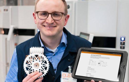 3D-gedruckte Kunststoff-Zahnräder: Schneller zur Serie durch igus Online-Lebensdauerberechnung