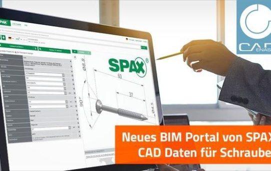 Jetzt neu: SPAX BIM Portal powered by CADENAS bietet CAD Daten von Schrauben