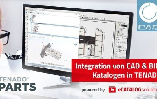 TENADO baut Integration von CAD & BIM Katalogen powered by CADENAS aus