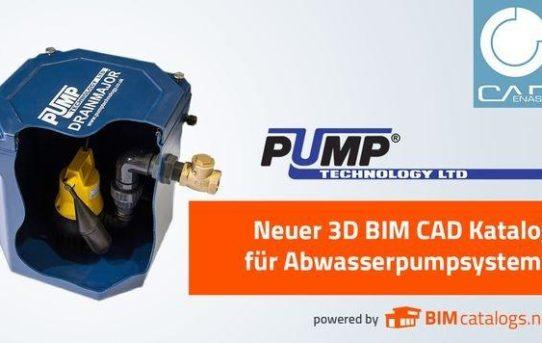 Pump Technology veröffentlicht 3D BIM Katalog für Abwasserpumpsysteme powered by CADENAS