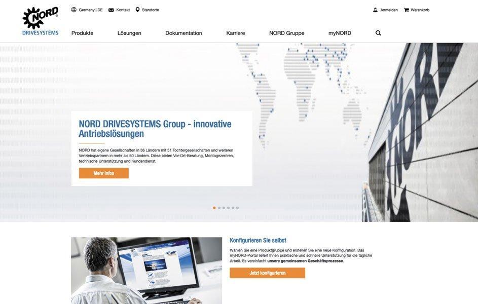 NORD DRIVESYSTEMS: Website-Relaunch ist online