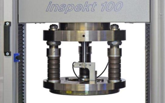 Prüfung von Tellerfedern mit der Universalprüfmaschine inspekt 100 kN