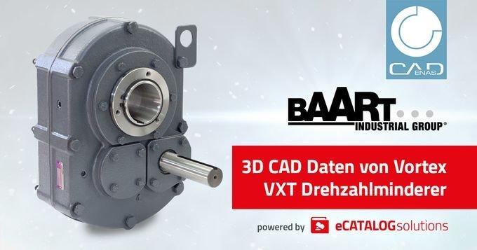Baart Industrial Group setzt auf Produktkonfigurator powered by CADENAS für seine Drehzahlminderer-Serie Vortex VXT