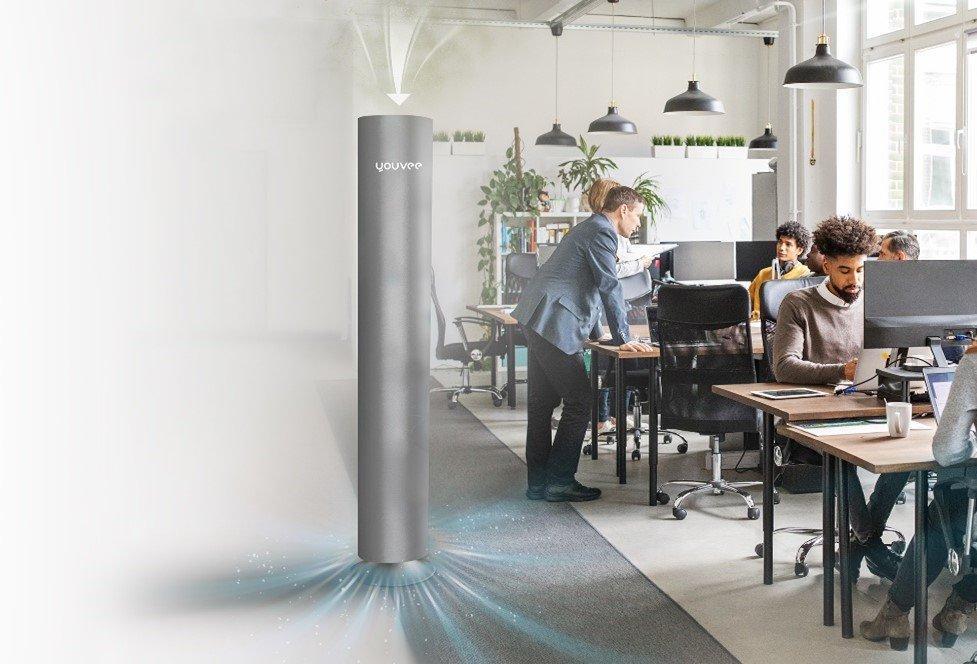 Weihnachtsaktion: Luftreiniger youvee® jetzt mit integriertem CO2-Sensor - kostenfrei bei Bestellungen vor Weihnachten