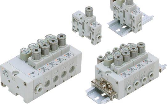 Schlanker Regler – schnell lieferbar: Der modulare Druckregler der Serie ARM5 ist der kleinste seiner Art