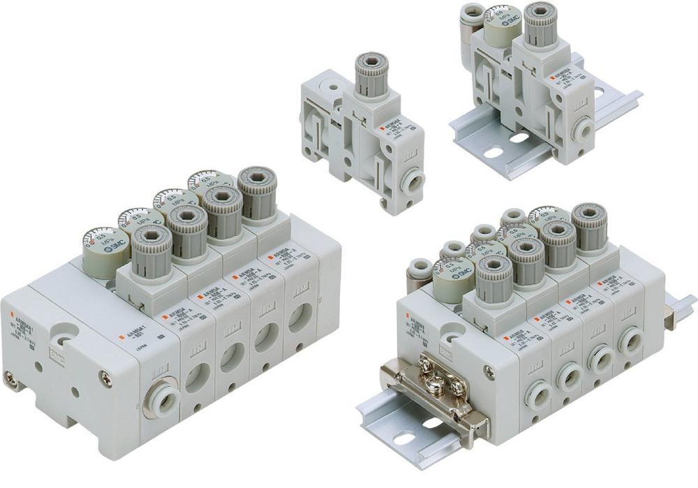 Schlanker Regler - schnell lieferbar: Der modulare Druckregler der Serie ARM5 ist der kleinste seiner Art