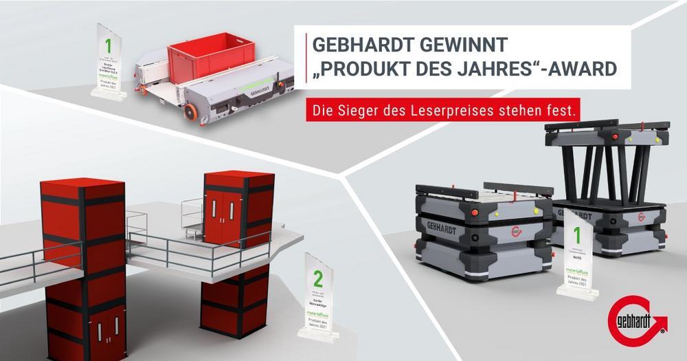 """GEBHARDT erhält für das StoreBiter® OLS X und KARIS® den Leserpreis """"Produkt des Jahres"""""""