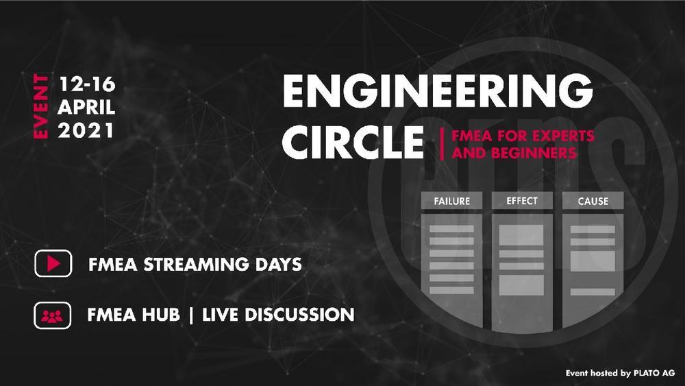 FMEA Streaming Days | Engineering Circle for Experts and Beginners | Online-Plattform (Sonstige Veranstaltung | Online)