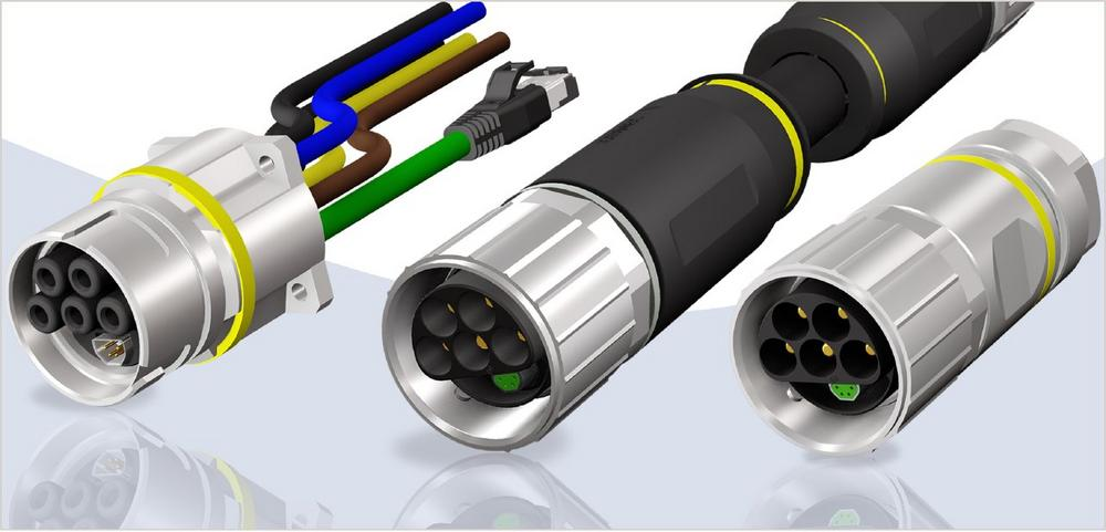 CONEC Hybridsteckverbinder  Baugröße B40