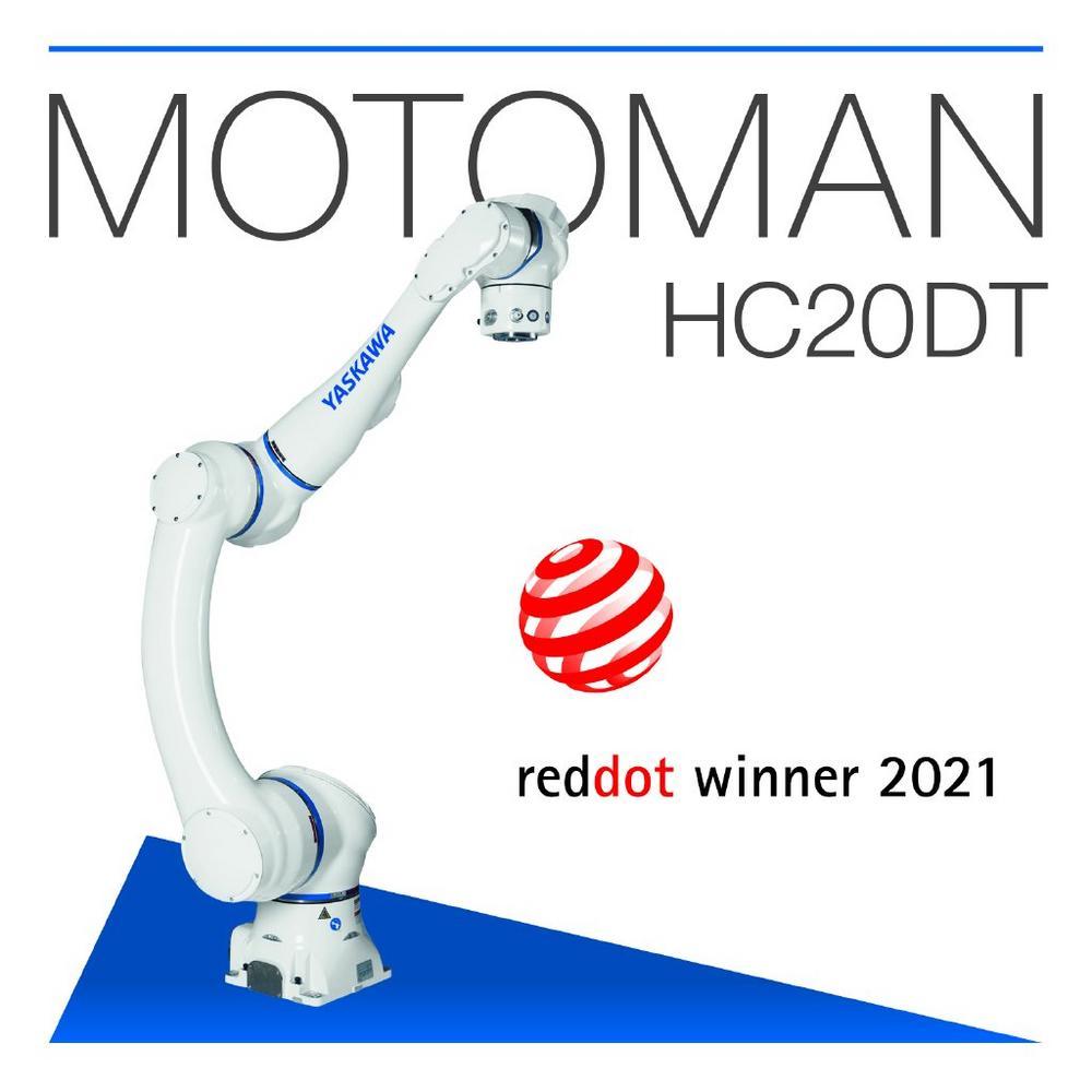 Cobot Motoman HC20DT von Yaskawa erhält Red Dot für hohe Designqualität