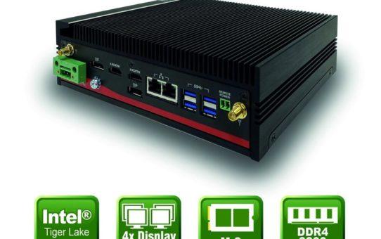 Lüfterloser Embedded PC mit Tiger Lake SoC
