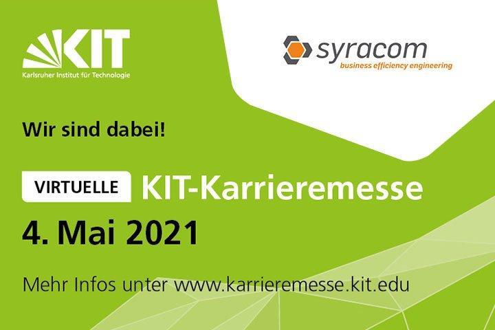 Besucht syracom auf der virtuellen KIT-Karrieremesse: einfach digital vorbeischauen. (Messe   Online)