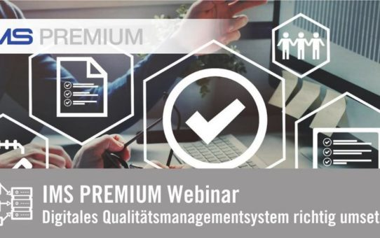 [WEBINAR] Digitales Qualitätsmanagementsystem richtig umsetzen (Webinar | Online)