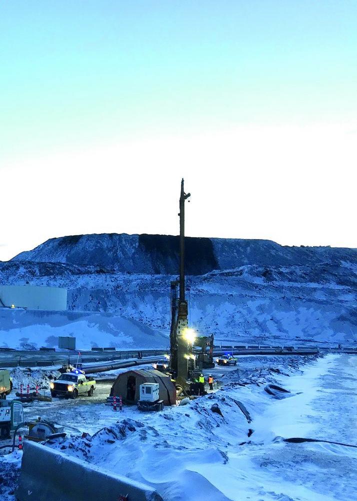 Red Dog Mine Alaska: Baugrundverbesserung im Permafrost