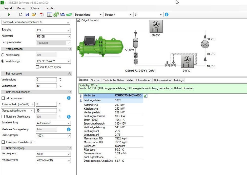 BITZER ergänzt R515B in Auslegungssoftware