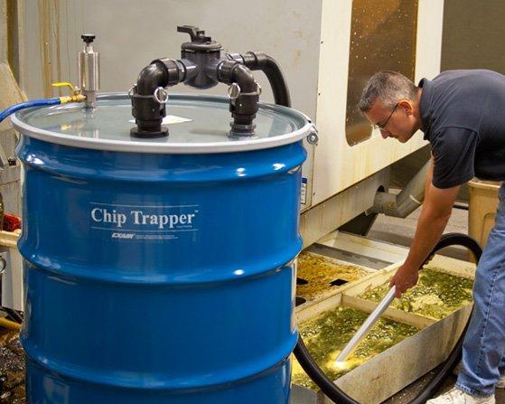 Der Spänefänger (Chip Trapper): einfache Trennung von Kühlmitteln bzw. Emulsionen von Feststoffen