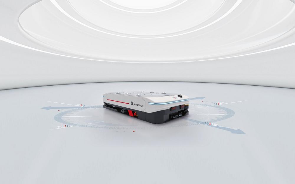 """Auszeichnung """"Bestes Produkt"""" der LogiMAT 2021 für neues, omnidirektionales FTF von Grenzebach"""