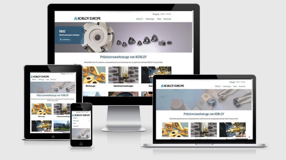 KORLOY Europe, europäische Niederlassung des südkoreanischen Präzisionswerkzeugherstellers KORLOY, stellt die neue mehrsprachige Homepage mit Produktinfos und einem Newsletter vor