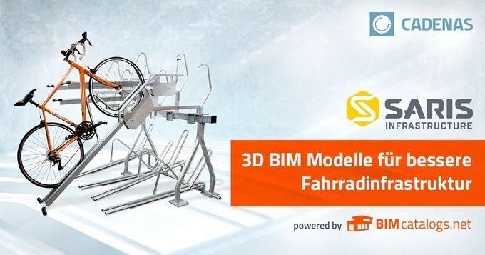 Saris Infrastructure präsentiert 3D Katalog mit BIM CAD Modellen zur Verbesserung der Fahrradinfrastruktur