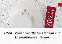 BMA: Verantwortliche Person nach DIN 14675 für Brandmeldeanlagen (TÜV) (Schulung | Berlin)
