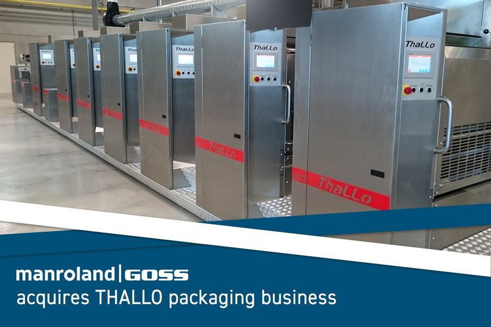 manroland Goss Gruppe erwirbt Thallo Verpackungsdruckgeschäft