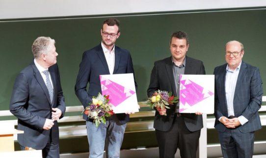 Verleihung der Förderpreise 2020 und 2021: Zwei Preisträger von der Hochschule Schmalkalden nominiert und vom VDWF ausgezeichnet